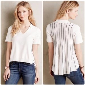 Knitted & Knotted Cream Somerset Top